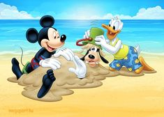 Mickey Mouse on the beach Beach Cartoon, Cartoon Pics, Share Pictures, Friend Pictures, Closed For Holidays, Animated Gifs, Mickey Mouse And Friends, Friends Forever, Kendall