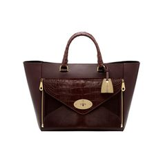 Mulberry - Willow Tote in Oxblood Mixed Exotic the front zips off into an envelope clutch!  genius!