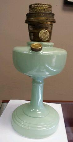 Vintage Aladdin Model B Oil Kerosene Lamp JADE GREEN Chicago Nu-Type