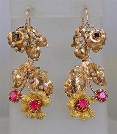 Victorian Seed Pearl Earrings
