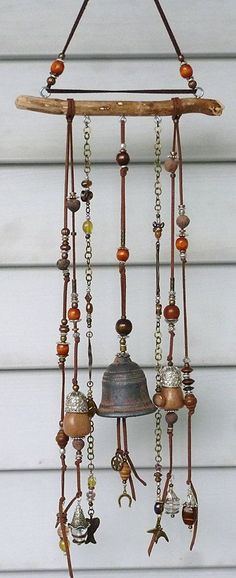 CARILLON/CHIME/WINDBELL/ jewelry inspired garden wind chime from a branch
