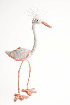 cotton white heron bird