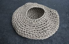 Woven paper baskets using a traditional Korean method by Corinne Muller and Piotr Oleszkowicz of Best Before via upon a fold.