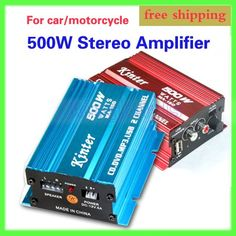 DC 9-15V 2CH 500W Motorcycle Scooter Speakers MP3 ATV Amplifier AMP AMPS
