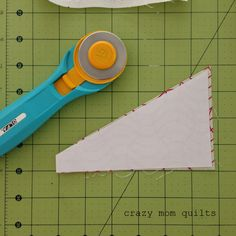 PUT THE TEMPLATE NUMBER SIDE DOWN--crazy mom quilts: paper piecing tips from a frugal girl
