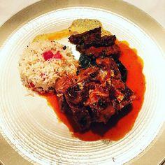 Second main slow-braised Herdwick lamb. That's gold leaf. I am happy.  @cinnamonrestaurants #oliveeatsout #instafood #london #londonrestaurants by olivemagazine