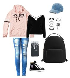 """Untitled #1"" by madi-falk on Polyvore featuring Hollister Co., MANGO, Mudd, River Island and Converse"