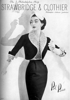 1952 Dovima in ensemble by Paul Parnes, photo by Wenczel, Vogue, February