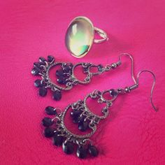 Vintage ring and earrings. Set Jewelry