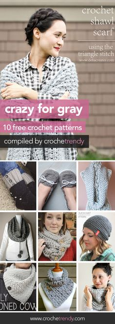 Crazy for Gray: 10 Free Crochet Patterns | Crochetrendy.com