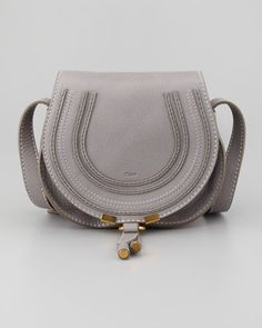 Chloe Marcie Mini Saddle Bag, Gray - Neiman Marcus