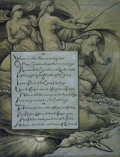 """The Fates Gathering in the Stars.""        Elihu Vedder Illustrations: Rubáiyát of Omar Khayyám"