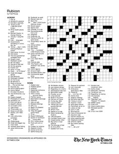 Create a crossword puzzle for either the top 3 contestants or a general season 12 puzzle.