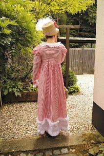 historical sewing tutorial Kleidung um 1800: 1812 Costume Parisien Dress