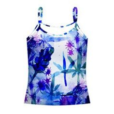 womens tank top shirt blue violet KUSHBERRY cannabis berry print | marijuana pot weed fruit nature botanical leaf ladies XS S Med Large XL by CannabisColor on Etsy