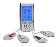 Easy Rechargeable TENS Unit + EMS Muscle Stimulator, Dual Independent Channels With 20 Intensity Levels, 8 EMS or TENS Massage Types + Handheld Electronic Pulse Massager, - Health Canada, for OTC Home Use Portable Pain Relief Therapy Rheumatoid Arthritis Treatment, Chronic Pain, Fibromyalgia, Pain Relief, The Help, The Unit, Easy, Phone Chargers, Walmart