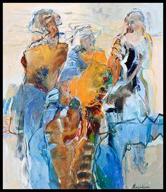 Bernadette Leijdekkers | Figuren modern art, painting, figures,