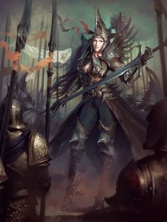 Artist: Marat Ars - Title: Dragonslayer Vanness 1 - Card: Hope-Bearing Enesia