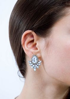 Ecstasy Statement Earrings In Vintage Gold