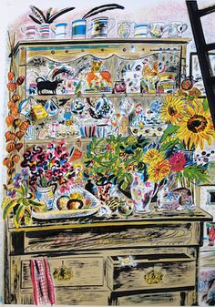 """September Dresser"" by Emily Sutton (limited edition lithograph). Courtesy the artist and YSP"