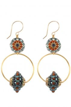 Miguel Ases Fall Jewelry, Bead Jewellery, Seed Bead Jewelry, Seed Bead Earrings, Beaded Earrings, Beaded Jewelry, Earring Tutorial, Handcrafted Jewelry, Jewelry Design