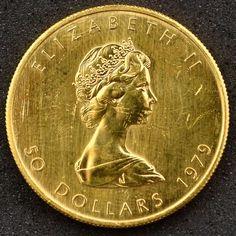 Numismática: Moeda do Canadá, Valor 50 Dollares, Ano 19..