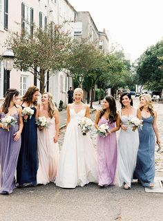Bridesmaid dresses in different colors