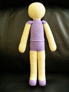 This is a basic pattern for an amigurumi person. The example is a ballerina I made for my niece, however, the pattern is generic. I do have suggestions on where to start clothing features though. This is an easy pattern, I would qualify it as intermediate beginner.