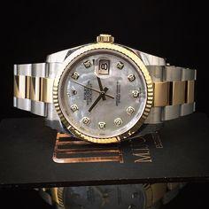 Quality takes time The stunning #Rolex #DateJust #Pearl #Diamond dot  #BiMetal