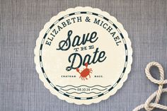 Cute theme! Salty Seas Save the Date Cards by Oscar & Emma at minted.com