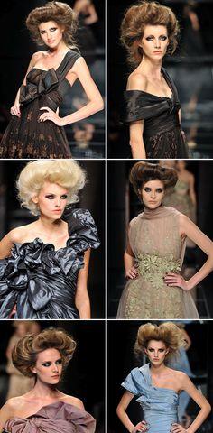 Elie Saab- whispy modern victorian hair