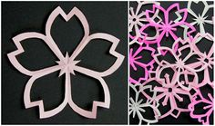 "DIY: Sakura Kirigami.  Kirigami is a variation of origami that includes cutting of the paper (from Japanese ""kiru"" = to cut, ""kami"" = paper).."