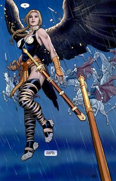 Valkyrie by Frank Cho... This is the job I want. Escorting the worthy fallen warriors to Valhalla.