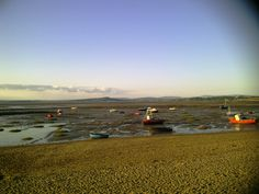 Morecambe fishing boats waiting for the tide to turn #tide #lancashire #cumbria