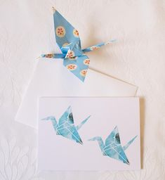 The sweet design on this greeting card is a reproduction of an illustration and watercolour painting that I did of one of my favourite subjects, origami cranes. The card is blank inside ready for you to fill with whatever love and wishes you like. The card is 10.5 x 15cm (4x6
