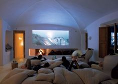 Entracing Home Theatre Room Design Ideas: Classy Home Theatre Seating Design Designing Home Theater Home Theater Rooms, Cinema Room, Home Theater Design, Attic Theater, Kids Theatre, Home Theatre, Cinema Theatre, Attic Office, Pillow Room