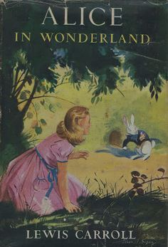 Alice in Wonderland. Year: #1947. Country: #UK. Illustrations:Eileen A Soper. Additional Info: Harrap Publishing printed edition. #book #cover #art