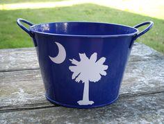 South Carolina Bucket . . . Moon and Palmetto Tree. $4.00, via Etsy.