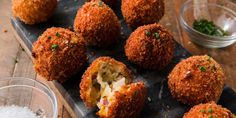 Best Fried Mashed Potato Balls Recipe — How To Make Fried Mashed Potato Balls Mashed Potato Balls Recipe, Fried Mashed Potatoes, Mashed Potato Recipes, Potato Cakes, Cheesy Potatoes, Baked Potatoes, Potato Dishes, Easy Potato Recipes, Potato Ideas