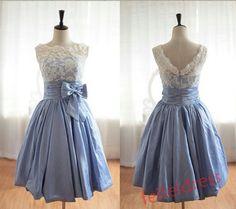 New lace skirt short homecoming dress party dress by feifeidress, $109.00