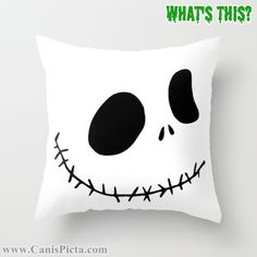 Nightmare Before Christmas Home Decor from Canis Picta - Jack Pillow