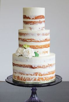 16 Amazing Naked Cakes..we ♥ this! moncheribridals.com