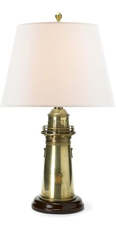 Ralph Lauren Lighthouse Table Lamp Home - Furniture - Lighting - Bloomingdale's Luxury Table Lamps, Brass Table Lamps, Brass Lamp, Lamp Table, Gold Home Decor, Luxury Home Decor, Lighthouse Lamp, Chandeliers, Gold Home Accessories
