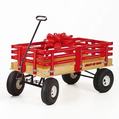 Amish-made little red wagon by Lehman's