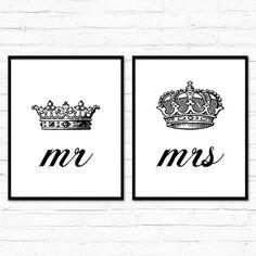 Juego de dos 2 el Sr. y la Sra. su suyo Rey por LochnessStudio
