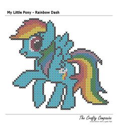 My Little Pony Rainbow Dash Inspired PDF Cross by CraftyCompanion