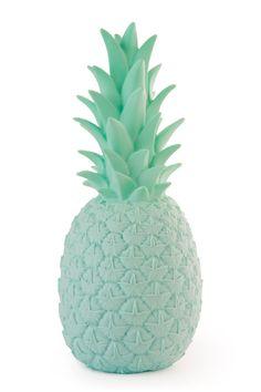 Pina Colada Lamp, Mint Green, Contemporary, Pineapple, Night Light,  Nursery, Kids Room, Tropical,  Funky,  Contemporary Home Gift, UK Plug