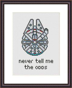 Millennium Falcon Star Wars Funny Cross Stitch PDF Pattern