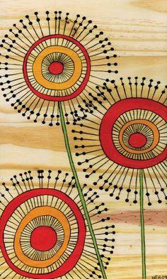 flower zentangle pattern by butterflydances
