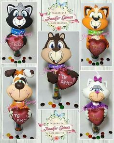 Pelanas Bear Felt, Pencil Toppers, Diy And Crafts, Mickey Mouse, Teddy Bear, Clip Art, Clay, Baby Shower, Dolls
